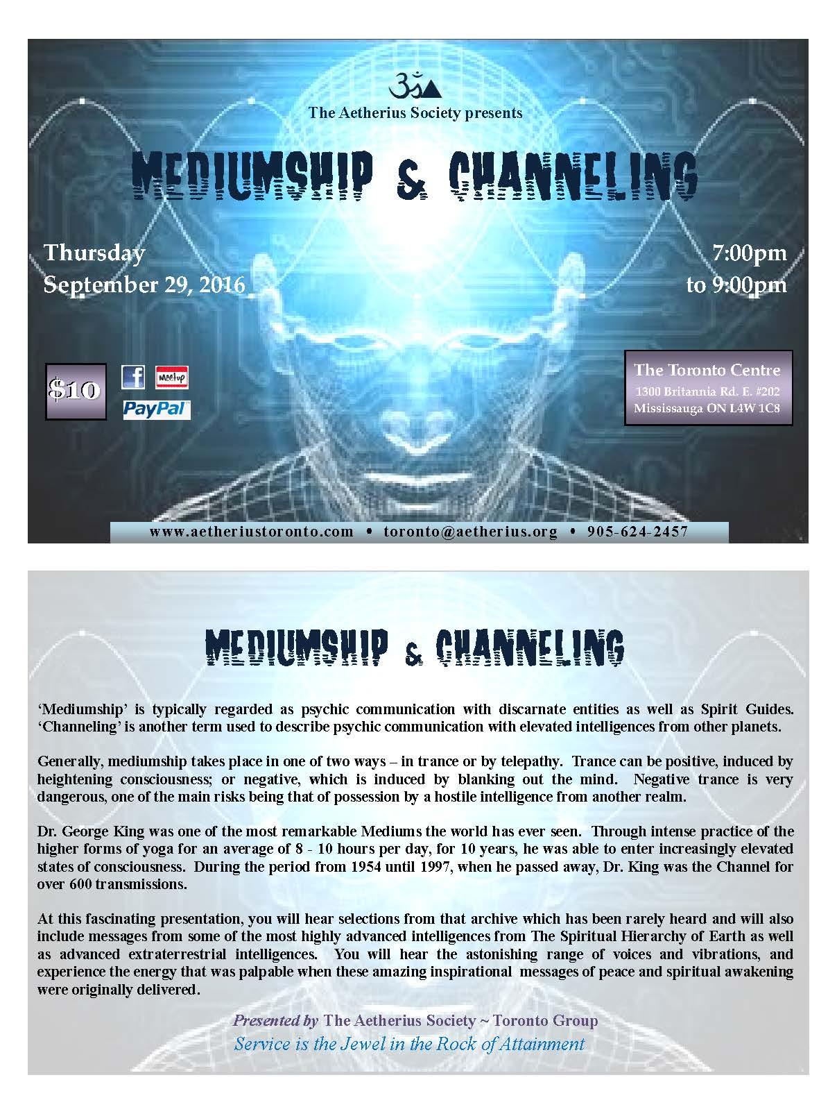2016-09-29 Mediumship